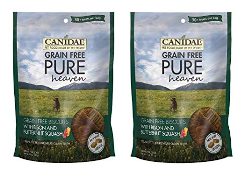 CANIDAE 2 Pack of Grain-Free Pure Heaven Biscuits, 11 Ounces Each, with Bison and Butternut Squash, for Dogs