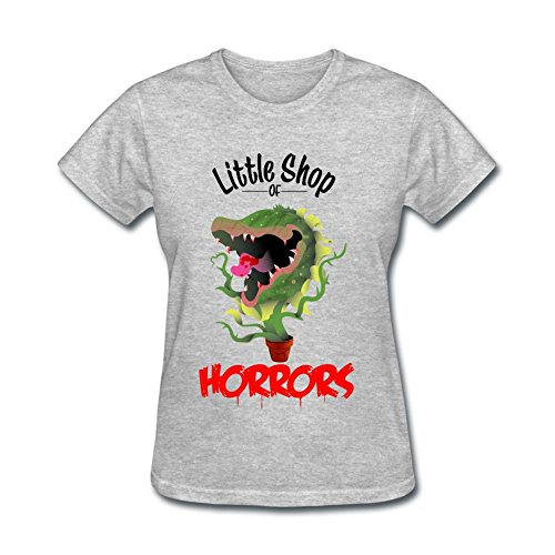 TLMKKI Women's Little Shop of Horrors T-shirt Grey XXL (Horror Tshirts)