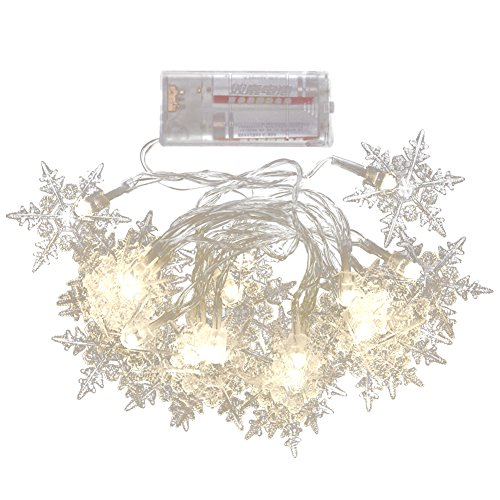 Led Snowflake Icicle String Lights - 5
