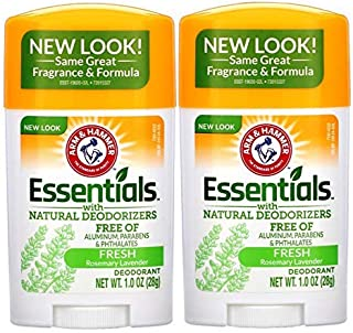 product image for ARM & HAMMER Essentials Solid Deodorant Travel Size, Fresh, 1 Oz (10 Pack)