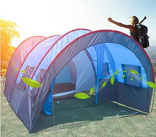 Group-Tunnel-Camping-Tent-with-Sun-Canopy-5000-mm-Water-Column-Festival-Beach-Backpacking-Trekking-Waterproof-Outdoor-Dome-Tent-5-8-Persons-Windproof-Snow-Shelter