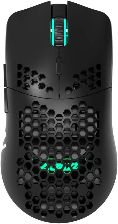 Docooler Ajazz AJ390 USB Wired Gaming Mouse with 7 Keys Adjustable DPI Ergonomic Design Hollowed-Out Honeycomb Design