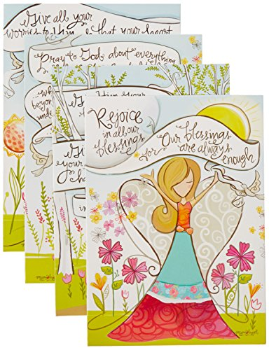 Divinity Boutique (22379N) Greeting Card Assortment: Praying for You, Angels 5 x 7 Inch, Set of 12 - 3 sets of each 4 designs