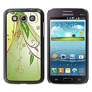 PC/Aluminum Funda Carcasa protectora para Samsung Galaxy Win I8550 I8552 Grand Quattro Design Floral Green / JUSTGO PHONE PROTECTOR