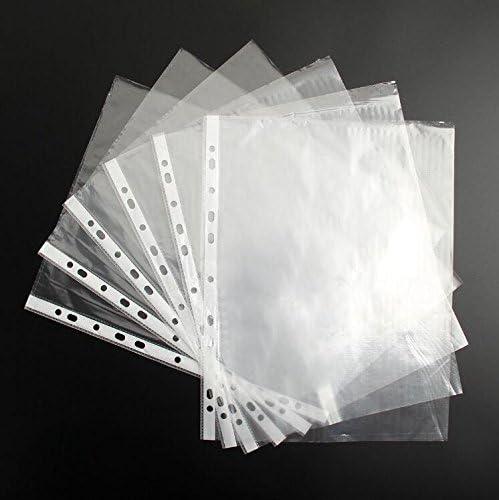 Wady A4/Kunststoff-Klarsichth/üllen Dokumentenh/üllen zum Abheften im Ordner gelocht