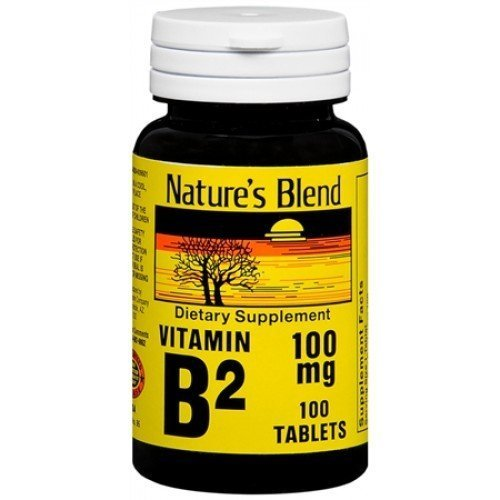 Nature's Blend Vitamin B-2 100 mg, Tablet, 100 CT (3 PACK)