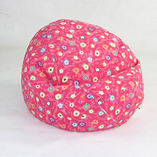 American Furniture Alliance Print Collection Jr Child Bean Bag, Pink Flower ()