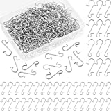 Tatuo 240 Pieces Christmas Ornament Hooks S Shaped Ornament Hangers Xmas Tree Ornament Hooks with Storage Box for Christmas Tree Decoration, 2 Sizes (Silver)