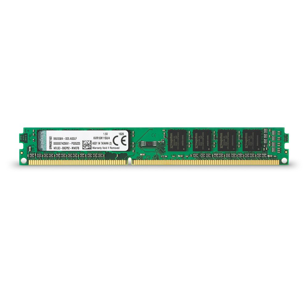 Kingston Value RAM 4GB 1600MHz PC3-12800 DDR3 Non-ECC CL11 DIMM SR x8 Desktop Memory (KVR16N11S8/4) by Kingston Technology