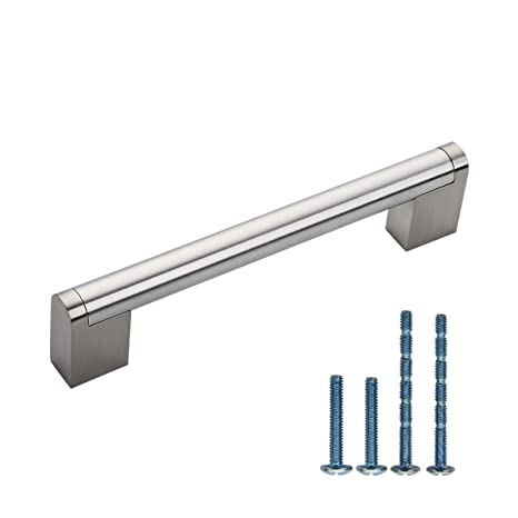 Furniware 10 Pack Cabinet Hardware Modern Square Drawer Pulls, Kitchen  Cabinet Door Handles Pull Brushed Satin Nickel- 5\
