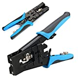 TOOGOO 1pc Durable Coax Compression Crimper Tool BNC/RCA/F Crimp Connector RG59/58/6 Cable Wire Cutter Adjustable Crimping Plier