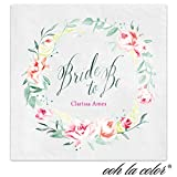 Bride to Be Personalized Beverage Cocktail Ooh La Color Napkins - Canopy Street - 100 Custom Printed Paper Napkins