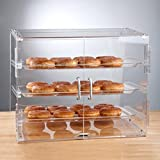 acrylic donut display case - Premier Choice 3 Tray Bakery Display Case with Doors Length: 21 X Width: 17 3/4 Inchesx Height: 16 1/2 Inches by Premier Choice
