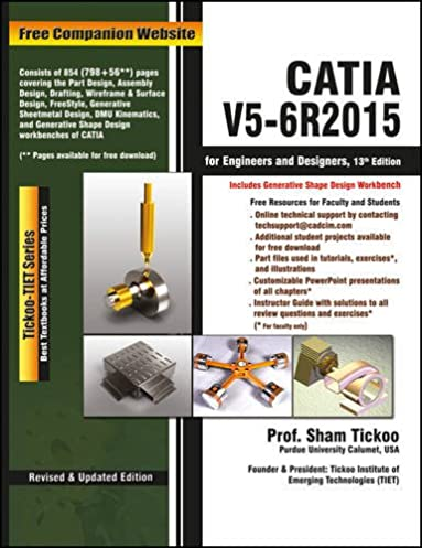 buy catia v5 6r2015 for engineers and designers 13ed book online at rh amazon in Autodesk Inventor Sham Tickoo AutoCAD 2004