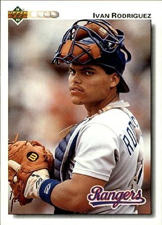 Amazoncom 1992 Upper Deck Baseball Card 245 Ivan Rodriguez Near