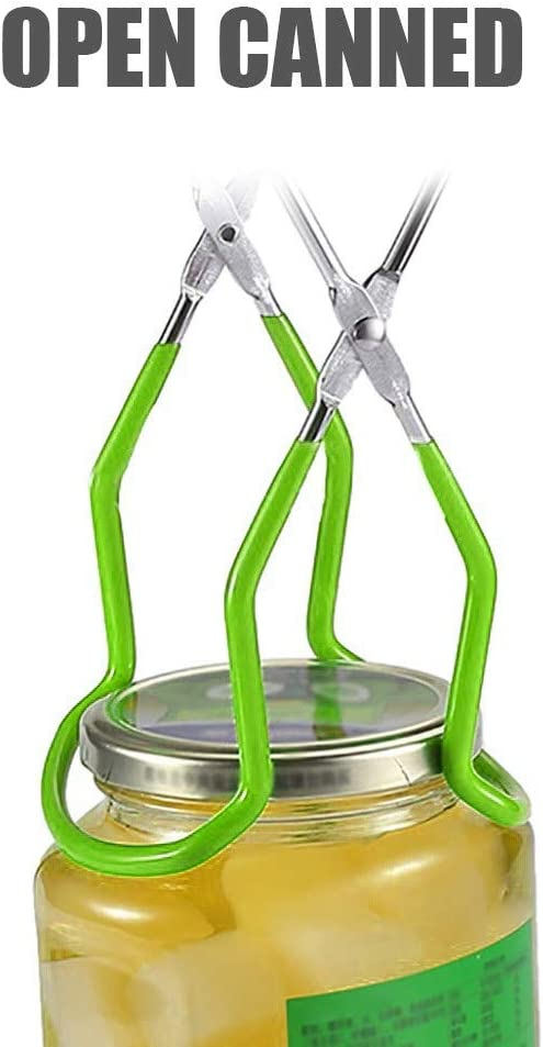 Anti-Scalding Anti-Slip Wide-Mouth Clip Universal for Kitchen Restaurant Canning Tongs Stainless Steel fine/_fine Canning Jar Lifter Long with Grip Handle Red