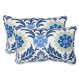 Pillow Perfect Outdoor Santa Maria Rectangular Throw Pillow, Azure, Set of 2