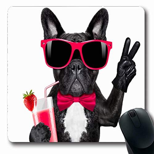 - Ahawoso Mousepads Yogurt Drink French Bulldog Dog Milkshake Recreation Smoothie Cocktail Sports Fruit Vegetarian Oblong Shape 7.9 x 9.5 Inches Non-Slip Gaming Mouse Pad Rubber Oblong Mat