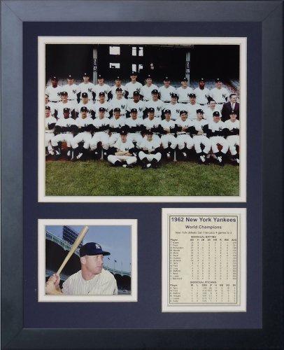 Legenden Sterben Nie 1962 New York Yankees gerahmtes Foto Collage, 11 x 35,6 cm von Legends Never Die