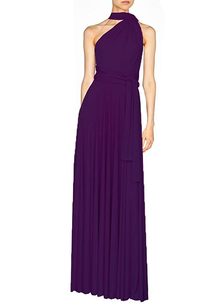 Deep Purple E K Women's congreenible multi way maxi dress Long infinity gown