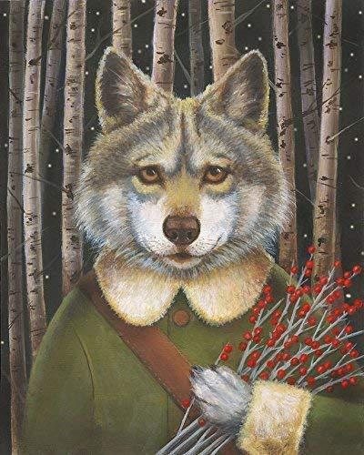 Christmas Wolf.Amazon Com Wolf Portrait Christmas Wolf Print Forest