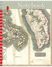 Notebook: 1814, Thomson Map of Martinique and Dominica, West Indies , John Thomson, 1777 - 1840, was a Scottish cartographer from Edinburgh, UK