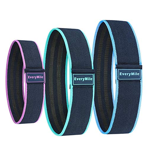 Everymile Fabric Resistance Bands Set Booty Hip Exercise Bands for Legs, Shoulders, Arms Exercises-Perfect for Fitness, Glute or Squat Workout - Non-Slip Thick Circle Bands for Women and Men