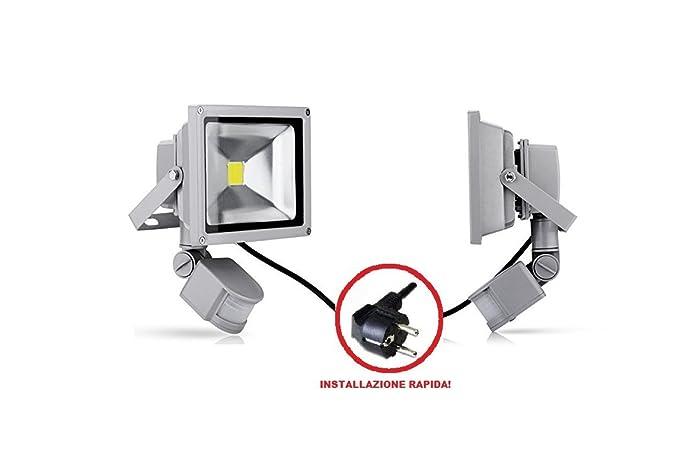 Grg® Foco Led para exterior IP65 a 30 W, luz blanca fría de 6000