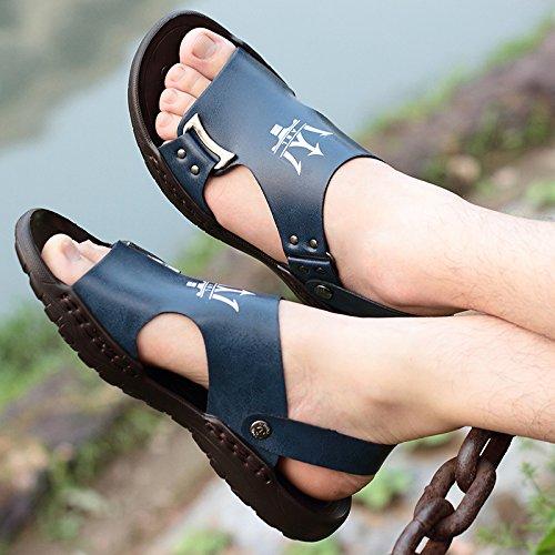Xing Lin Sandalias De Mujer Los Hombres Sandalias De Playa En Verano, La Marea Masculino Zapatillas Tendencia Todos-Match Calzado Casual Sandalias blue
