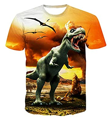 Uideazone Mens 3D Animal Graffiti Print Cool Tee Short Sleeve T-Shirt