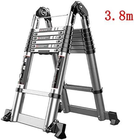 XUQIANG Escalera telescópica Inicio Multifunción Plegable Subida y caída Ingeniería Espiga portátil Recta de Doble Uso Engrosamiento de Aluminio Tritthocker (Size : 3.8m+3.8m): Amazon.es: Hogar