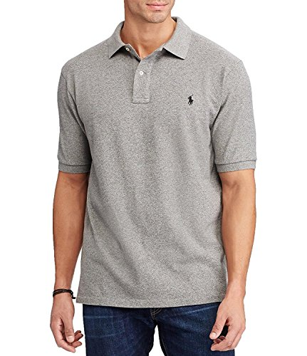 Polo Ralph Lauren Mens Big & Tall Cotton Classic Fit Polo Shirt (4XLT Canterbury Heather)
