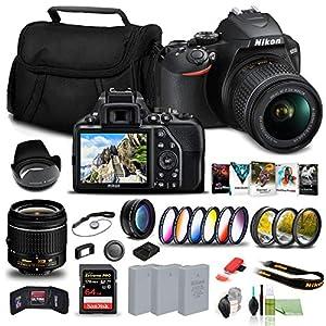 Nikon D3500 DSLR Camera with 18-55mm Lens (1590) USA Model + 64GB Card + 2 x EN-EL14a Battery + Corel Photo Software…
