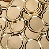 wide mouth jar rings - Generic (made by Ball) WIDE GOLD Mouth Size Mason Jar Canning Lids, 48 lids, (4 dozen), (Lids Only, No Bands/Rings), Plain Label, No Name Brand on Lids, No Advertising on Lids. BULK.