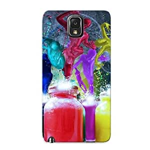 Galaxy Note 3 Case Cover - Slim Fit Tpu Protector Shock Absorbent Case (life Paints)
