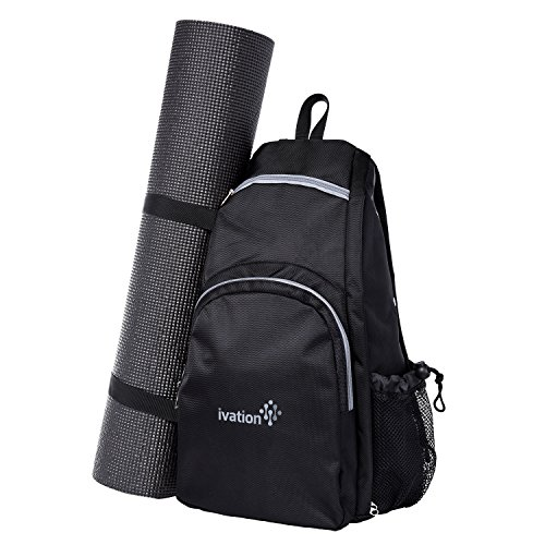 Yoga Mat Backpack Multi Purpose Crossbody Sling for Gym, Beach, Hiking or Travel