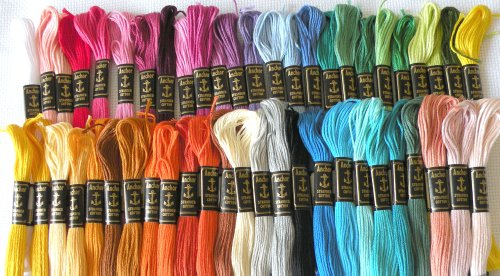 50 Anchor Embroidery Cross Stitch Threads Floss/skeins