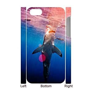 D-PAFD Diy hard Case Deep Sea Shark customized 3D case For Iphone 4/4s