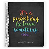Customized 2018-2019 Teacher Planner, Class Organizer, 12 Month Planner, Teacher Layout, School Planner, Lesson Planner, Learn Something New (8''x11'')