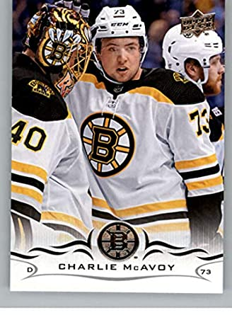 aa5c58336 2018-19 Upper Deck Hockey Card  13 Charlie McAvoy Boston Bruins Official UD  Trading