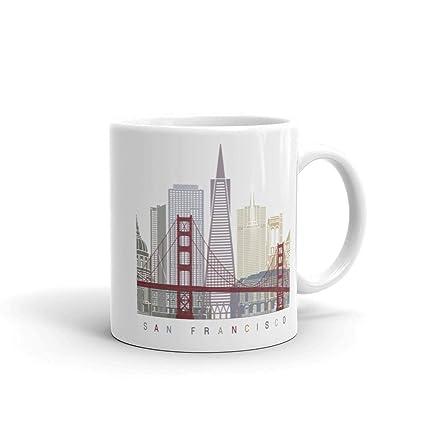 Image Unavailable  sc 1 st  Amazon.com & Amazon.com: San Francisco California Coffee Mug Unique Tea Cup ...