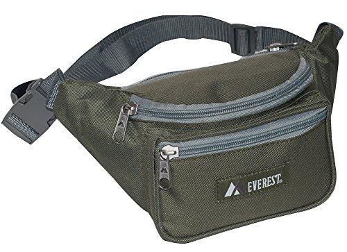 Everest Regular Size Fanny Pack. OLIVE