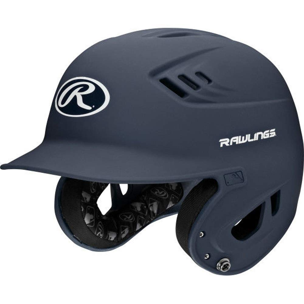 Rawlings R16 Series Matte Batting Helmet, Navy, Junior by Rawlings