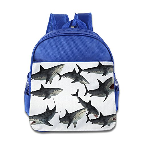 [Logon 8 A Group Of Sharks Lovely Backpacks RoyalBlue For 3-6 Years Olds Boys] (Book Week Group Costumes)
