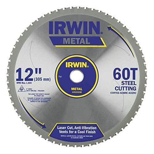 IRWIN Tools Metal-Cutting Circular Saw Blade, 12-inch, 60T (4935558)