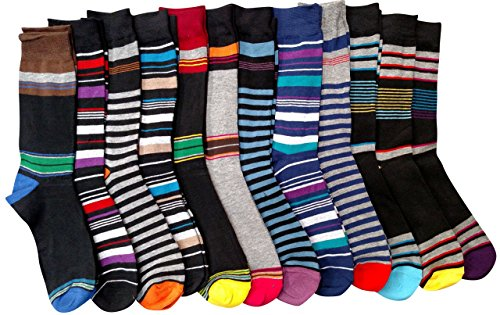 a852eadffc09 12 Pairs of excell Mens Fashion Designer Striped Dress Socks #2800 - Buy  Online in Oman. | Apparel Products in Oman - See Prices, Reviews and Free  Delivery ...