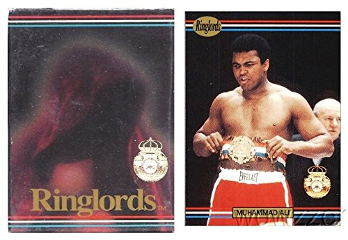 Vintage Boxing Memorabilia - 1991 Ringlords Boxing Complete Factory Sealed 50 Card Set Featuring the GREATEST Muhammad Ali! Vintage Set 25 Years old also includes Boxing Legends Lennox Lewis, Evander Holyfield, Julio Cesar Chavaz