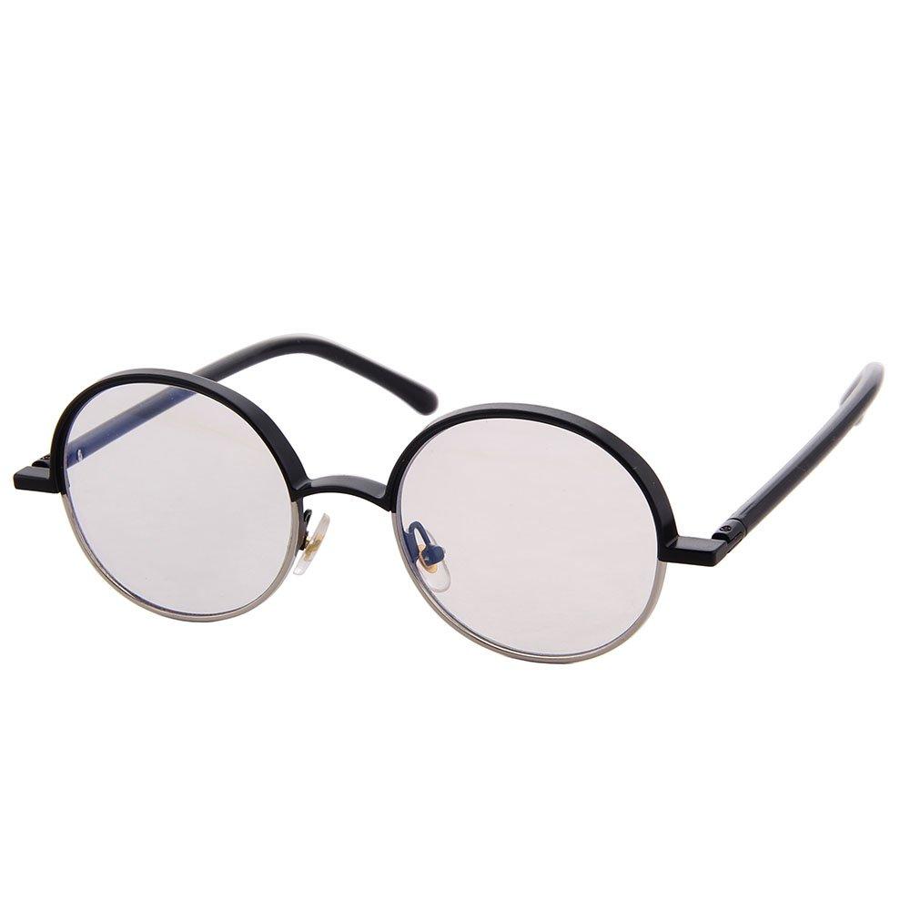 OGOBVCK Retro Vintage Style Lennon inspiró círculo redondo de metal gafas de sol para las mujeres y los hombres