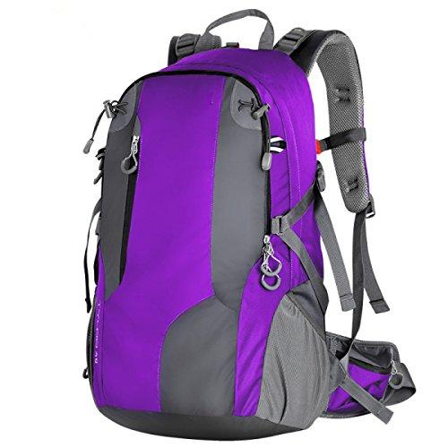 HAOYUXIANG Al Aire Libre De Escalada Senderismo Mochila Hombres Y Mujeres Viajan Seis Colores,Red Purple