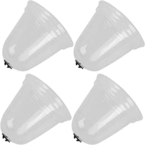 Cabilock 4pcs Garden Cloche Plant Bell Cover Protector Greenhouse Dome Cover for Season Extension Frost Guard Freeze Gardening Accessories Size L